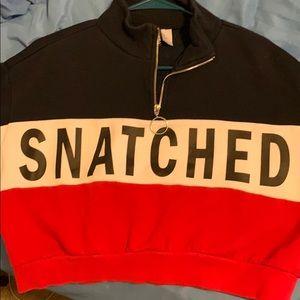 Snatched hoodie crop top!!
